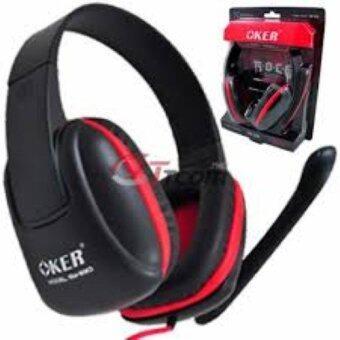 2561 Oker หูฟัง headphone รุ่น SM-880 - black/red (สีดำแดง)