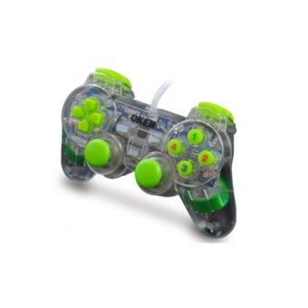 OKER Joy Dual Shock Joystick แบบใส รุ่น u-706 (Green)