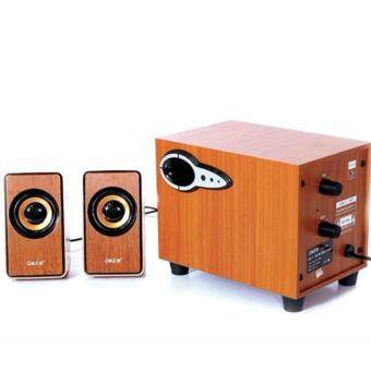 ราคา OKER ลำโพงซับวูฟเฟอร์ รุ่น SP-689 2.1 USB Multimedia Desktop Speaker 750W (สีน้ำตาลลายไม้)
