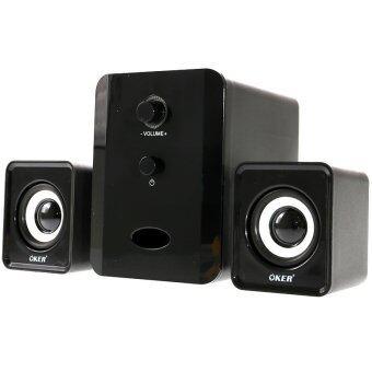 OKER ลำโพง USB Multimedia Speaker Micro 2.1 650W SP-835(สีดำ)