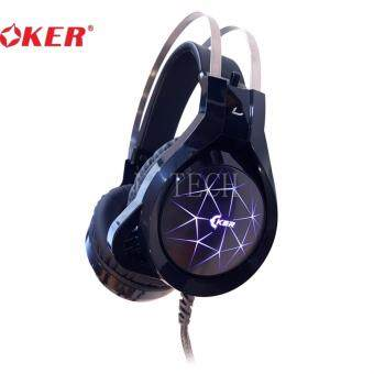 ราคา OKER X96 หูฟังเกมมิ่ง Hi-Fi stereoGaming Headset 7 Color LED - (สีดำ)