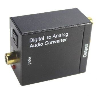 ตัวแปลงสัญญาณ Optical / Coaxial เป็น RCA Digital Coaxial To RCA\nAudio Converter