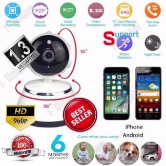 ขอเสนอ Orbia P2P V380 HD 960P Mini IP Camera Wifi Camera Wireless HD ( White/black )