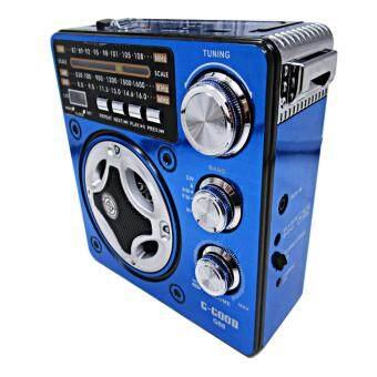 Orbia วิทยุไฟฉาย 2in1 พร้อมช่องเสียบ SD/USB/TF/MP3/AUX สูง 16 ซม. รุ่น G88 blue