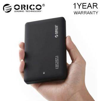ORICO 2599US3-V1 Tool Free 2.5-Inch SATA 3.0 to USB 3.0 Hard DriveDisk HDD External Enclosure Case for 9.5mm 7mm SATA HDD and SSD -Black -1 YEAR