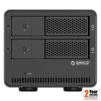 อยากขาย Orico 9528U3 3.5 2 Bays USB 3.0 Enclosure 0TB สีดำ