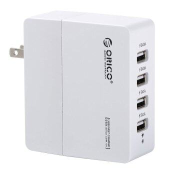 ORICO DCA-4U-WH 4 Ports 31 Watts AC USB Wall Travel Charger ปลั๊กชาร์จ (White)
