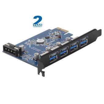 ประกาศขาย ORICO USB 3.0 PCI-Express Host Controller Card with 4PortPCI-Express to USB 3.0 HUB Controller Adapter Card  Black PCIEdition (4 Port Outside) (PVU3-4P) -2 YEARS