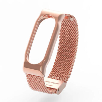 Original Mijobs Metal Strap Band For MiBand 2 Wristbands StainlessSteel Bracelet For Xiaomi Mi Band 2 Replace For Mi Band 2 – Gold -intl
