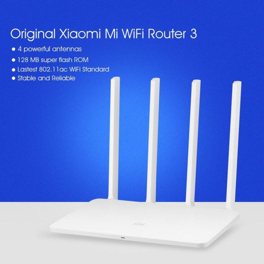Original Xiaomi Mi WiFi Router 3 128MB ROM 1167Mbps 2.4/5GHz with 4 Antennas(White) - intl