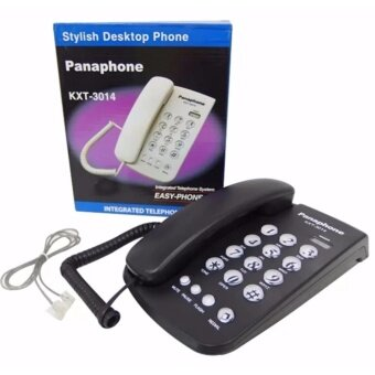 Panaphone โทรศัพท์บ้าน โทรศัพย์ภายใน โทรศัพย์ ออฟฟิศ KTX-3014 สีดำ
