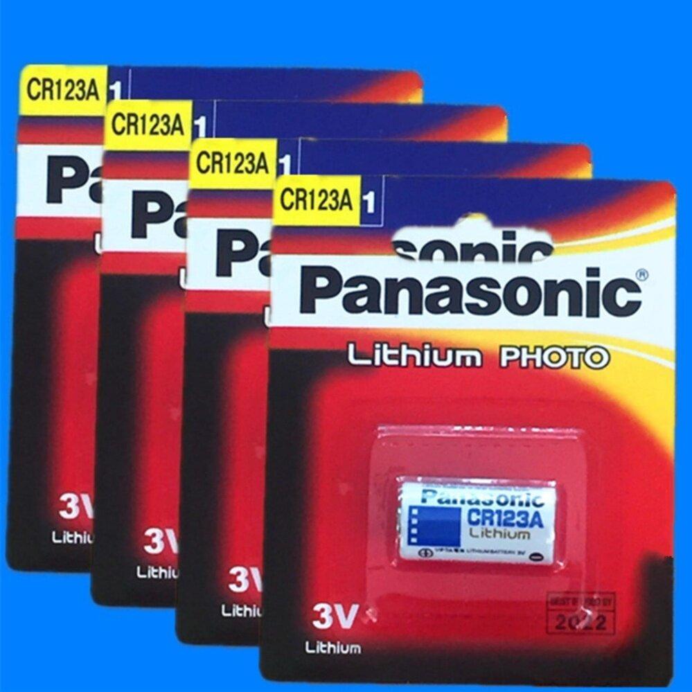 Panasonic ถ่านกล้องถ่ายรูป CR123A Lithium 3V - สีขาว (4 ก้อน)