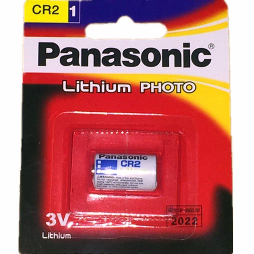 Panasonic ถ่านกล้องถ่ายรูป CR2 Lithium 3V - สีขาว (1 ก้อน)
