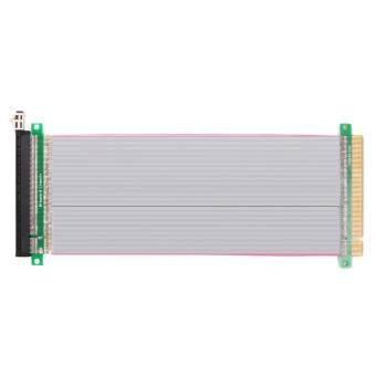 PCI-E Express 16X to 16x Male to Female Riser Extender Card RibbonCable 20cm