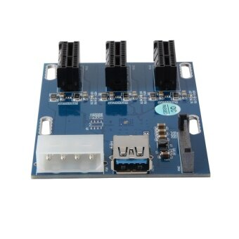 PCI-E Express 1X 1 to 3 Port Switch Multiplier Expansion Hub RiserCard - 5