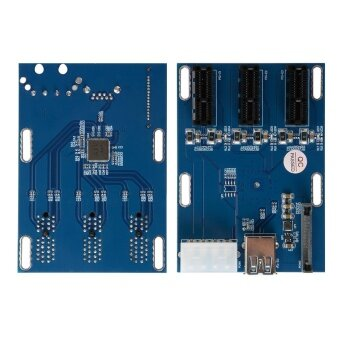 PCI-E Express 1X 1 to 3 Port Switch Multiplier Expansion Hub RiserCard - 4