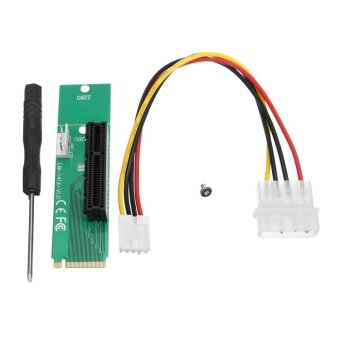 PCIE PCI-E 1X/4x Female to NGFF M.2 M Male Adapter Key Power Cable Stable - intl