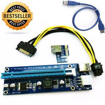 ซื้อ/ขาย PCIe PCI-E PCI Express Riser Card USB 3.0 Data Cable SATA to 6Pin คุณภาพสูง