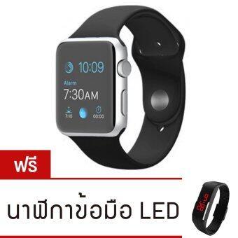 Person นาฬิกาโทรศัพท์ Bluetooth Smart Watch รุ่น A8 Phone watch(Black) ฟรี นาฬิกาLEDระบบสัมผัส(คละสี)