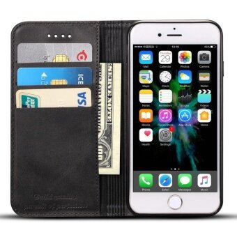 Phone Case For Apple Iphone 6Plus/6s Plus Genuine Leather Card SlotWallet flip Cover full protection Cover - intl