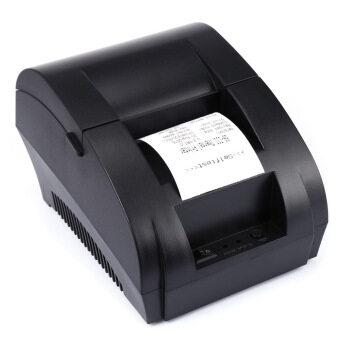 Portable 58mm USB POS Receipt Thermal Printer EU PLUG(Black) - intl