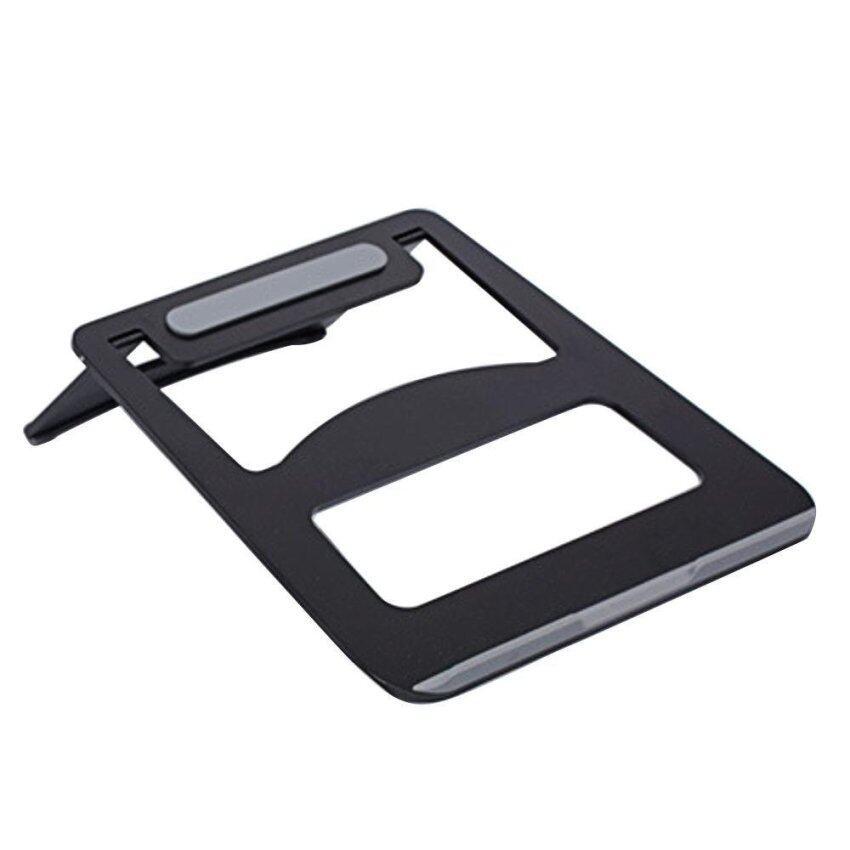 Portable Folding Aluminum Notebook Laptop Anti-slip Cooling Pad Stand Holder for ASUS Lenovo Samsung Apple MacBook Pro Air iPad Pro Black - intl
