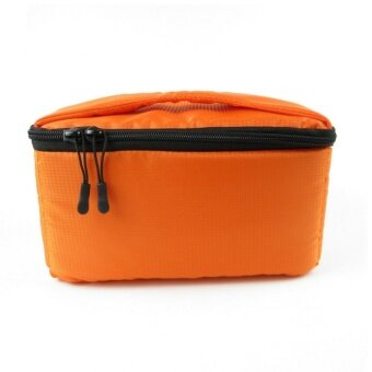 Portable Protective Camera Insert Padded Bag Case Pouch HolderShockproof Waterproof with Dividing Partition for DSLR Camera SonyCanon Nikon Pentax Orange - intl