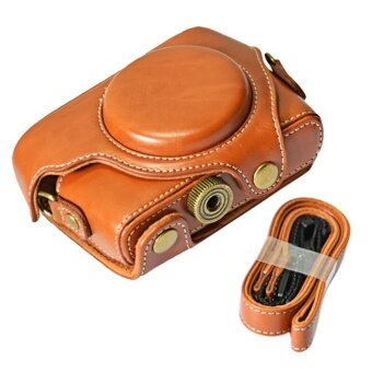 Harga Portable PU Leather Camera Protector Case Protective Bag Cover withAdjustable Shoulder Strap for Sony DSC RX100M1 M2 M3 M4 M5 CamerasBrown - intl