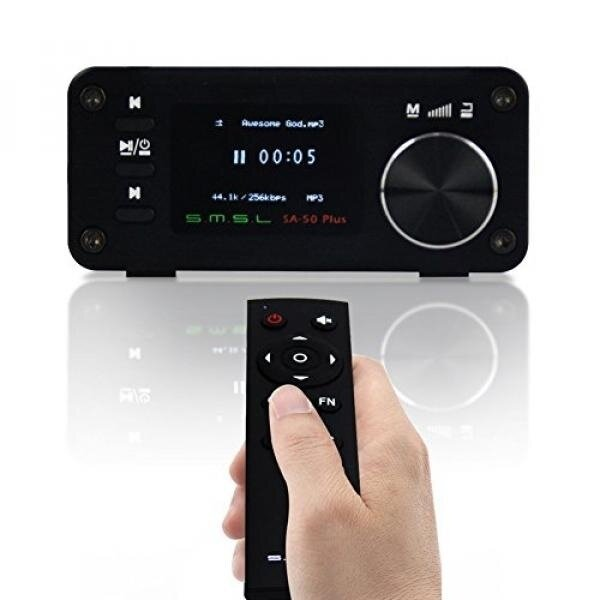 [Portable Speaker] Gemtune SMSL SA-50 PLUS TAS5766M 50WX2 3in1 HIFI Amplifier/DAC/Music Player w/ Remote Control, OLED Display, USB/SD Reader, 3.5mm AUX/Optical Input Jack, Built-in ADC, Full Digital