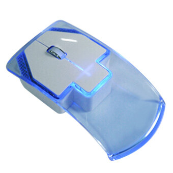 Portable Wireless 2.4G Ultra-thin Silent Transparent LED Colorful\nLight Gaming Optical Mouse for Tablet Notebook Computer with USB\nReceiver Blue