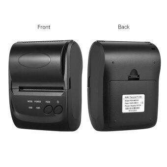 POS-5802DD Mini Portable Bluetooth USB Thermal Printer Receipt Ticket POS Printing for iOS Android Windows US Plug (Black) - intl - 5