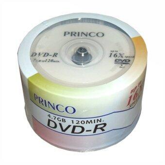 Princo แผ่นดีวีดี ของแท้ 100% รุ่น DVD-R 16X (50 แผ่น/กล่อง)