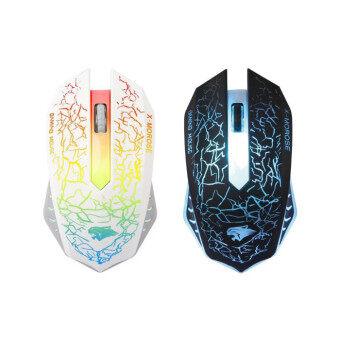 ประเทศไทย professional gaming mouse X9 4000 DPI USB optical wired mouse light Internet Caf Mouse - สีดำ