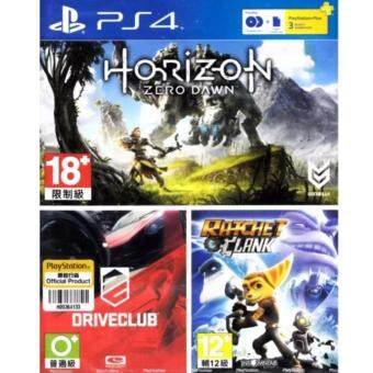 PS4 HITS BUNDLE GAME + PSN PLUS [THAI] 3 MONTH (HORIZON ZERO DAWN)+(DRIVECLUB)+(RATCHET&CLANK) [PS4] [Z3]