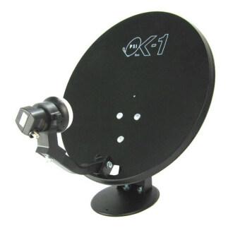 PSI OKD-1 จานรับสัญญาณดาวเทียมไทยคมเล็ก 35 ซม.แบบตั้งพื้น + PSIกล่องรับสัญญาณดาวเทียม รุ่น S2 HD (Black) ฟรีสาย RG-6 พร้อมหัวF-TYPE 10 เมตร (image 1)