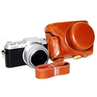 PU Leather Camera Bag Case Cover with Camera Strap for PanasonicLumix GF7 GF8 GF9 12-