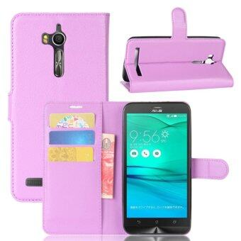 PU Leather Wallet Case Cover for Asus Zenfone Go ZB552KL - intl