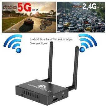 PVT 898 5 กรัม/2.4 กรัมรถยนต์ Dongle Receiver Linux ระบบ AirPlay Mirroring Miracast DLNA Airsharing Full HD 1080 จุด HD Interface สำหรับ HDTV โทรศัพท์สมาร์ทแท็บเล็ตพีซีโน้ตบุ๊ค