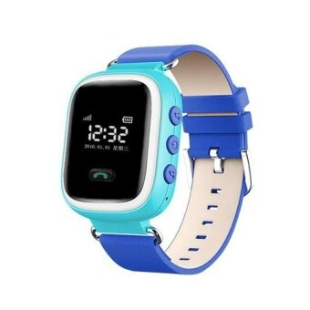 Q60 Wristwatch Kid Safe GPS Locating Anti Lost Reminder SOSFinderDevice Tracker Monitor Children Android Q60 Smart WatchPhone(Blue) - intl