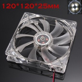 Quiet 12cm/120mm/120x120x25mm 12V Computer/PC/CPU Silent Cooling Case Fan For Radiator Mod - intl