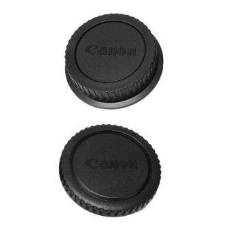 Rear Lens Cap ฝาปิดท้ายเลนส์ + Body Cap ฝาปิดบอดี้ Canon DSLR