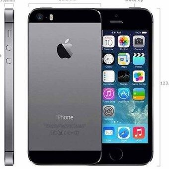 REFURBISHED Apple iPhone5S 16 GB blackiPhone 5S GPS Mobile Phone iPhone5s (free case screen protector)