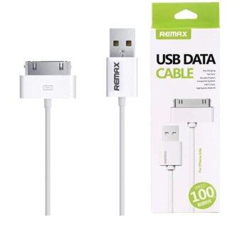 Remax สายชาร์จ Micro USB Data Cable for iPhone 4/4s iPad2/3/4(สีขาว)