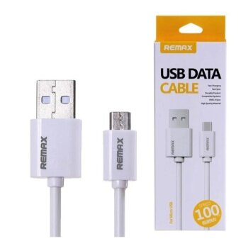 Remax สายชาร์จ Micro USB Data Cable for Samsung/Andriod (สีขาว)