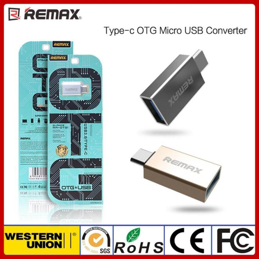 Remax Type-C USB 3.0 OTG Sync Charging Adapter Connector for samsung(2017) huawei meizu vivo oppo สีเงิน V2