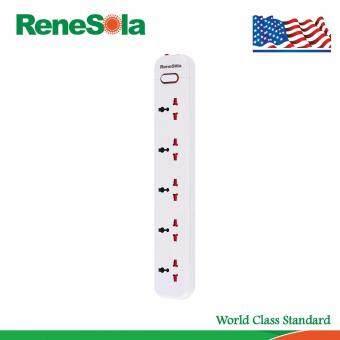 ซื้อ/ขาย ReneSola รางปลั๊กไฟ ปลั๊กพ่วง5ช่อง สายไฟยาว3เมตร รุ่น MS-105/WH (สีขาว)