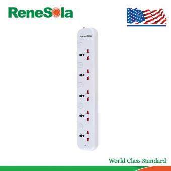 อยากขาย ReneSola รางปลั๊กไฟ ปลั๊กพ่วง5ช่อง แยกสวิตซ์ควบคุม สายไฟยาว3เมตร รุ่น SS-105/WH (สีขาว)