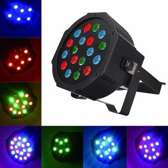 RGB 18W 18 LED Stage Light 7CH Party Disco DJ Xmas Lighting Laser Projector US - intl