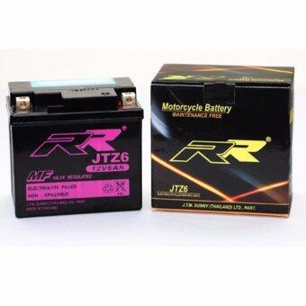 RR แบตเตอรี่แห้งมอเตอร์ไซค์ JTZ6 YTZ7 GTX5L-BS 12V 6Ah