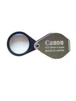 RUJI กล้องส่องพระ กล้องส่องเพชร Canon Full HD 10x18mm-Loupe -สีเงิน
